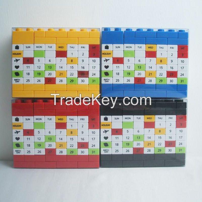 Changeable DIY Perpetual Calendar,DIY educational Building block