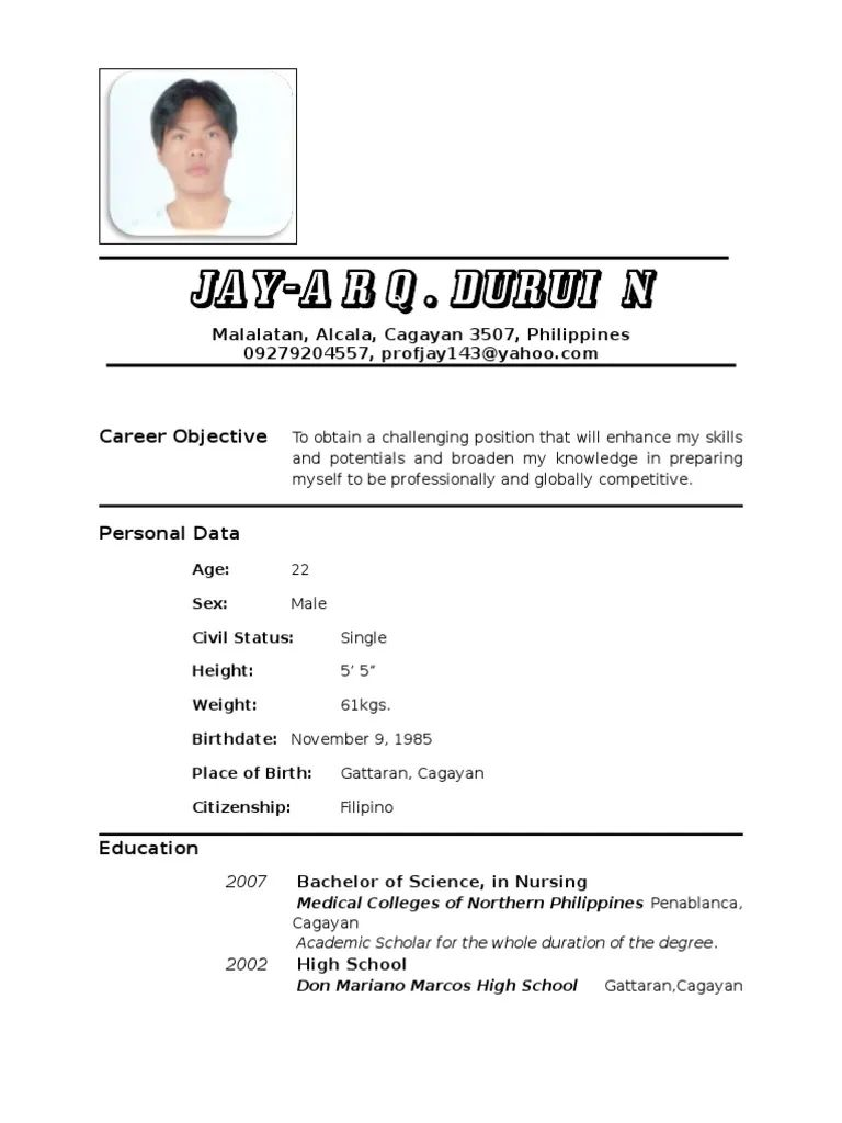 high school valedictorian resume