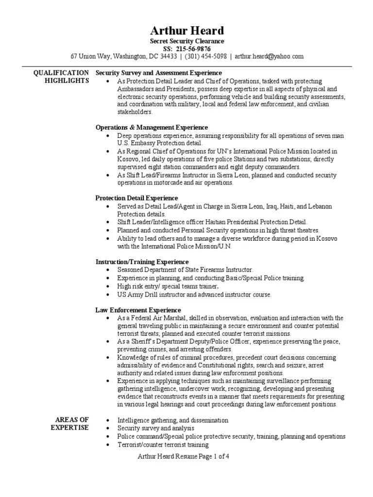 special operations resume examples