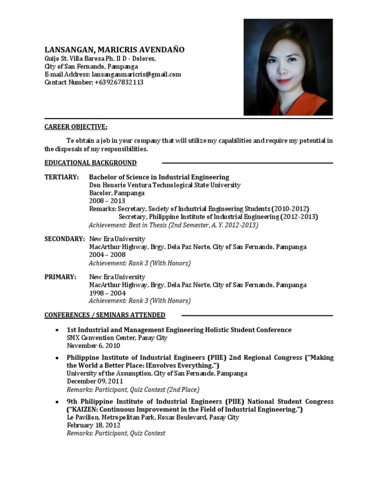 Resume Sample Resume For A Fresh Graduate resume new graduate sample format for fresh graduates two college summer camp