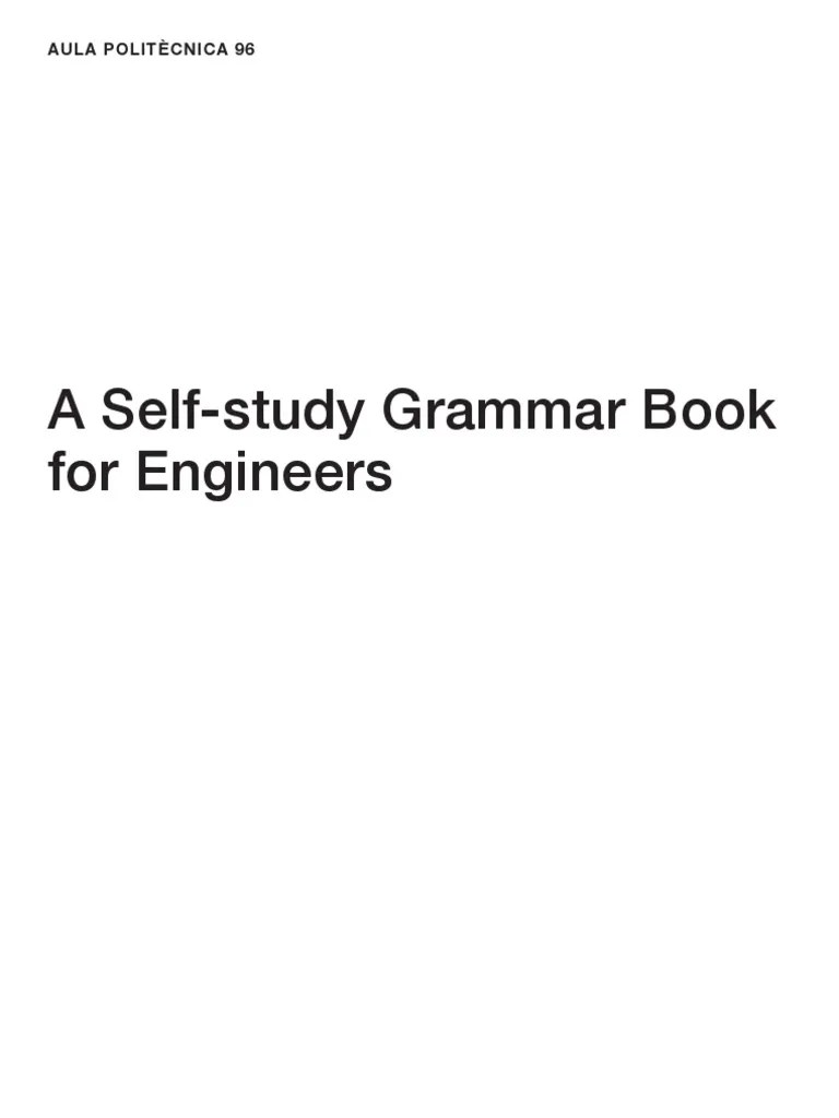Cash Pooling Y Precios De Transferencia A Self Study Grammar Book For Engineers Sònia Oliver Del Olmo