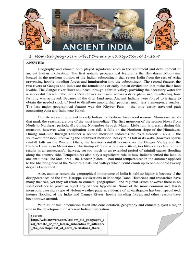Entry4 How Did Geography Affect The Early Civilization Of India