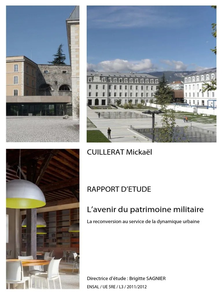 Reconversion Architecte Reconversion Patrimoine Militaire
