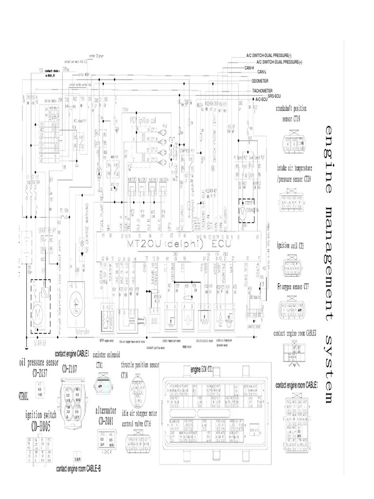 delphi ecu wiring diagram