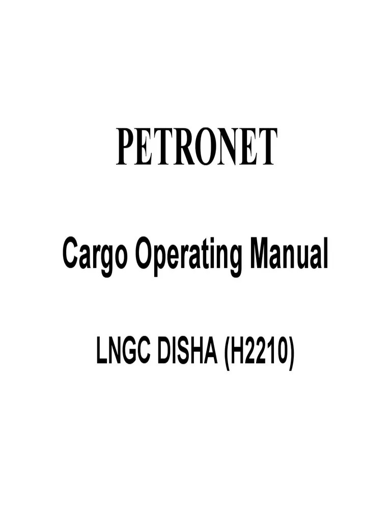 Jb Lighting P6 Bedienungsanleitung Disha Cargo Operating Manual Tonnage Gases