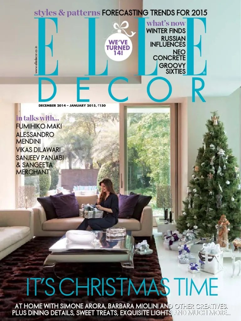 Interio Sofa Thierry Elle Decoration India December January 2015 3 D Printing