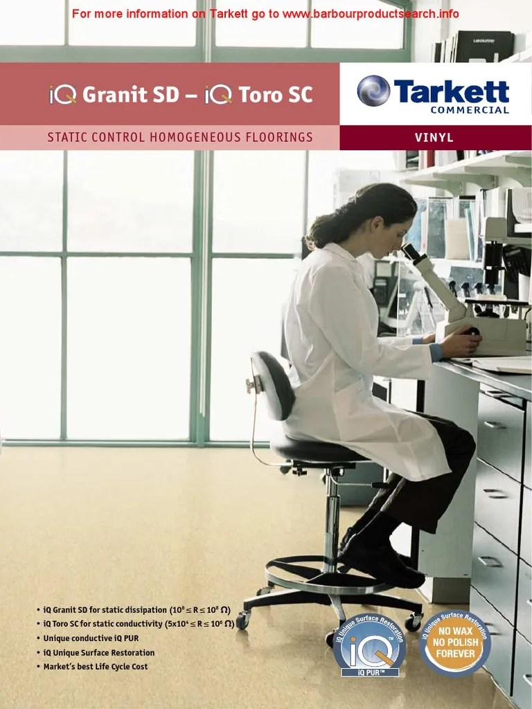 Tarkett Holding Gmbh Tarkett Iq Granit Sd Toro Sc-file020536 | Electrostatic Discharge | Physics
