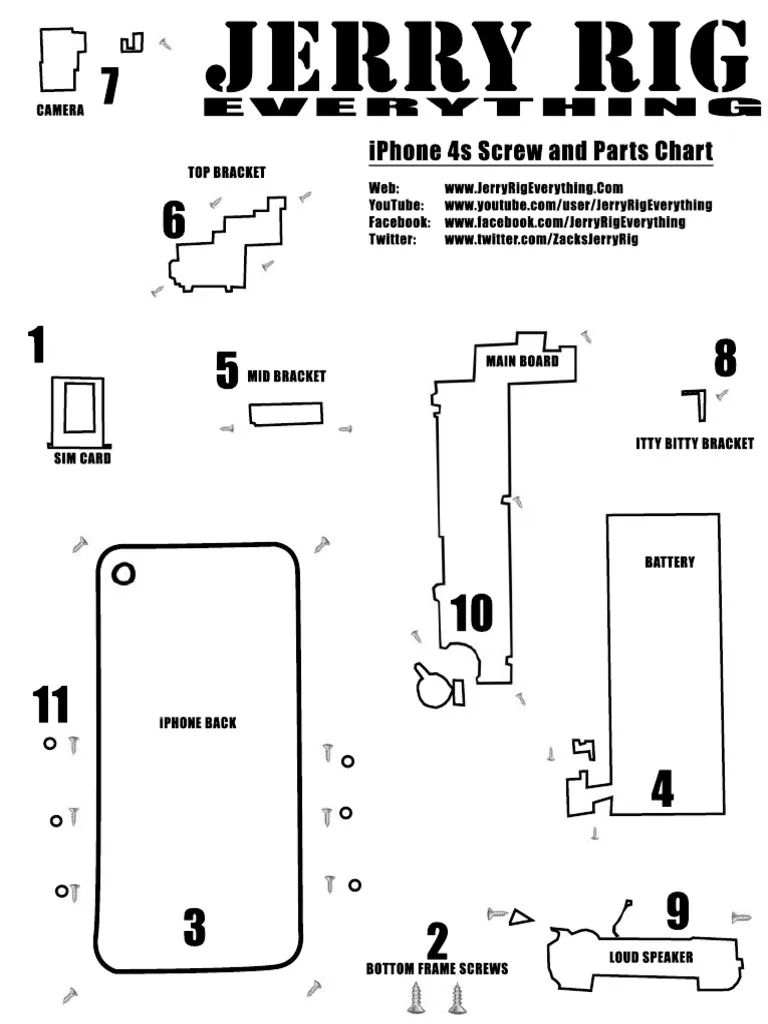 iphone 4 parts diagram