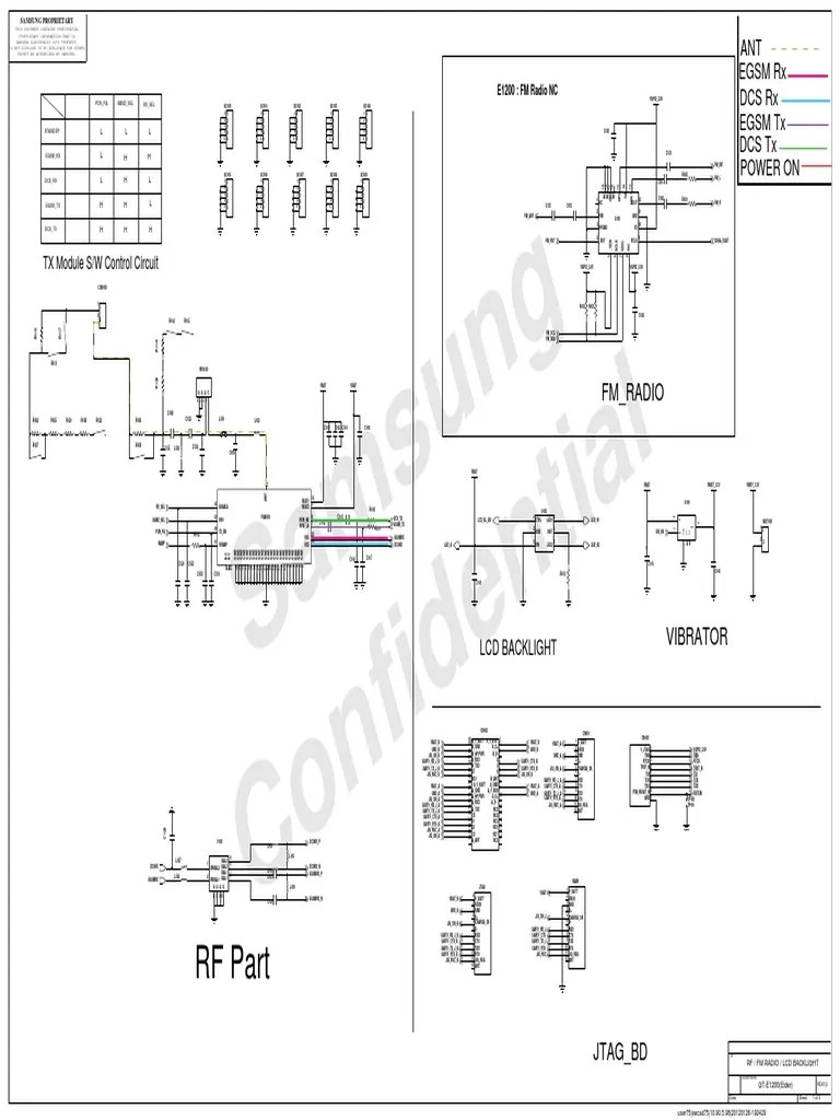 samsung e1200 schematic diagram