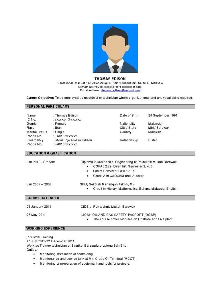 language dalam resume