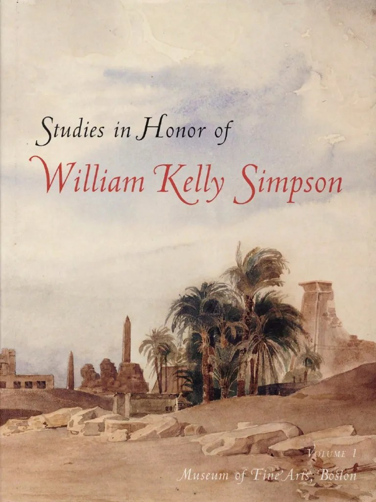 Studies Simpson R Freed Pdf Egyptology Ancient Egypt