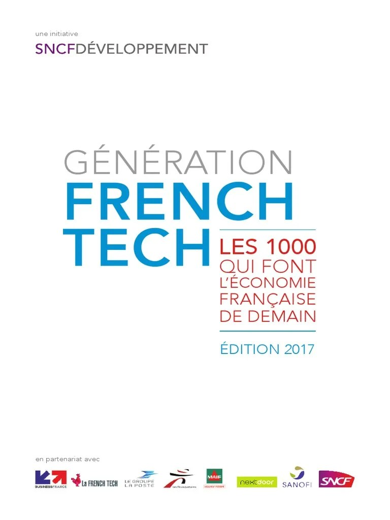 Generation French Tech Edition 2017 Pdf Sanofi Innovation