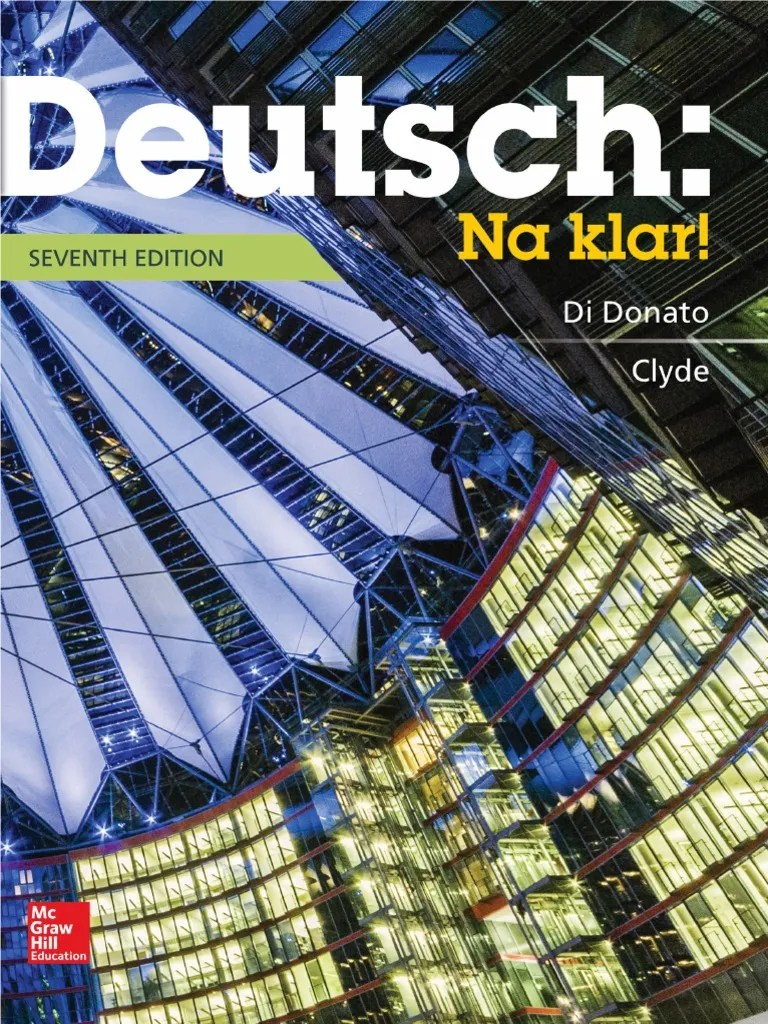 Deutsch Na Klar An Introductory German Course 7 Edition Student Edition Verb Adjective