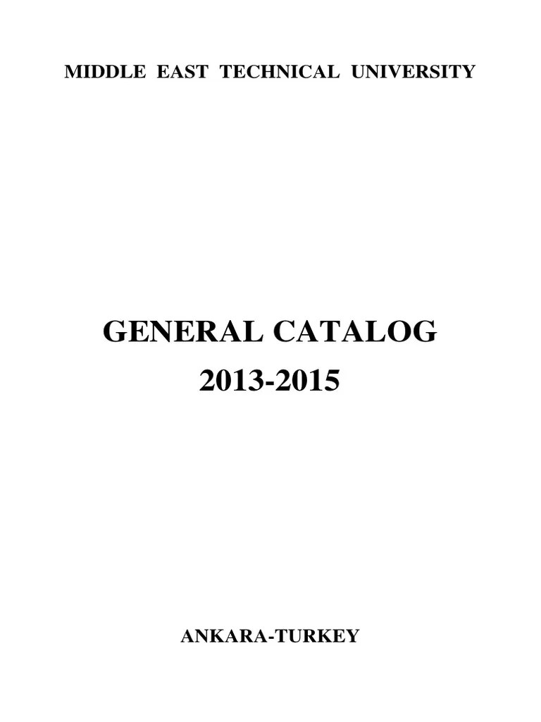 General Catalog 2013 2015 2 Bachelor Of Science Master Of Science