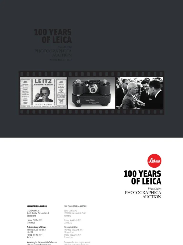 100 Years Of Leica Pdf