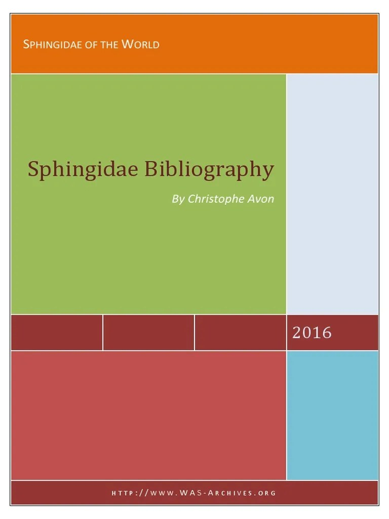 Sphingidae Of The World Bibliography Christophe Avon 2016 Southeast Asia Lepidoptera
