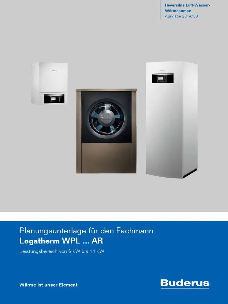 Wärmepumpe Pool Dimensionierung Buderus Monobloc Planning Guide German