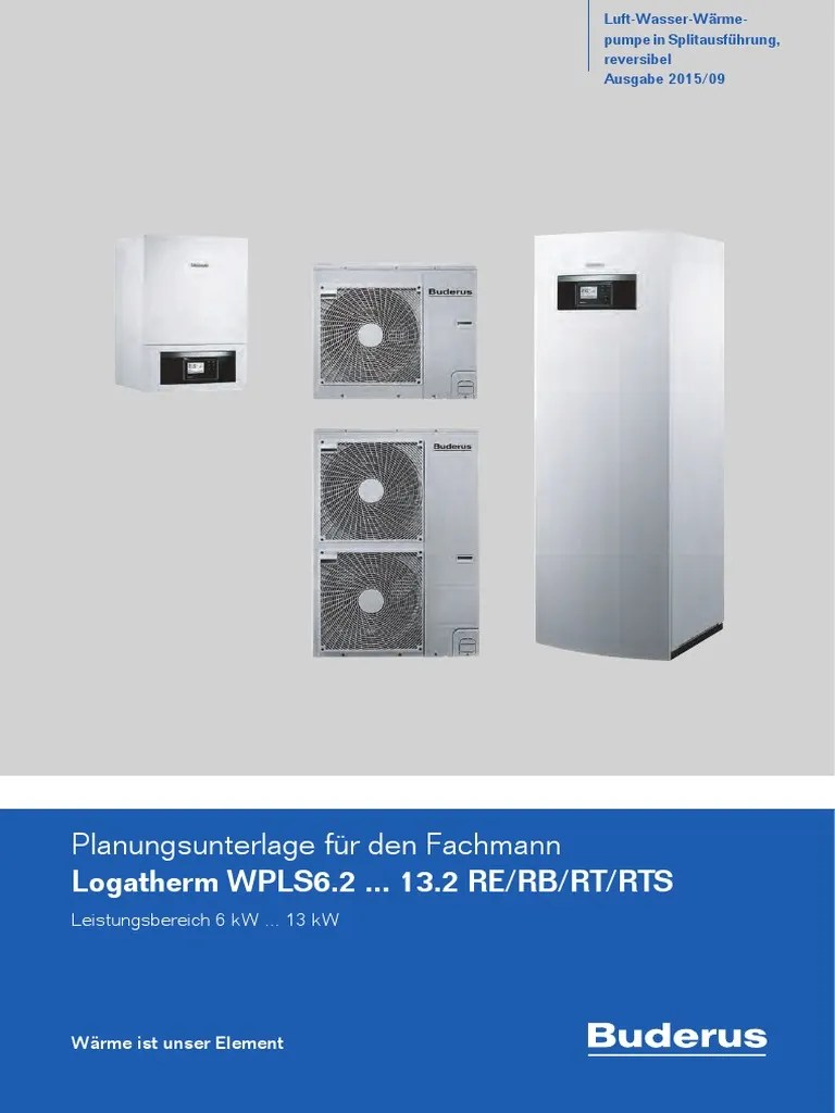 Wärmepumpe Pool Aufstellort Buderus Split Planning Guide German Heat Pump Building