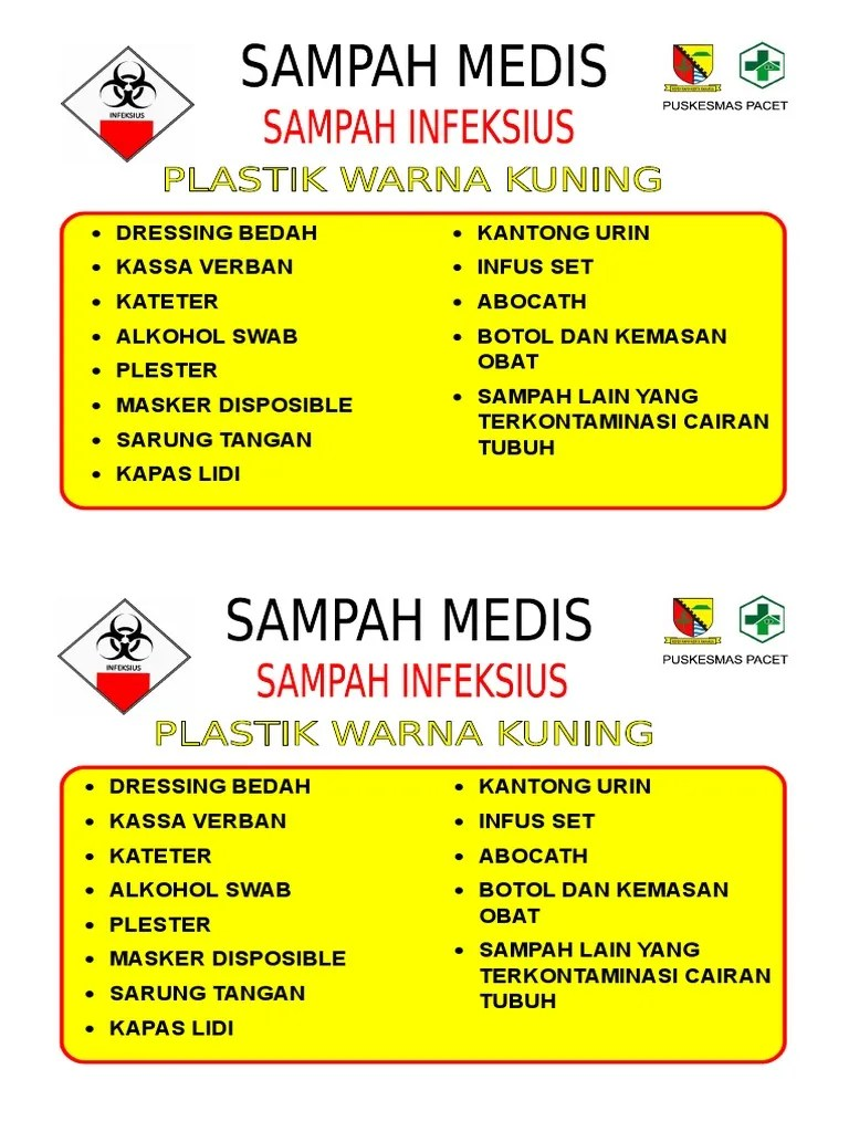 Plester Mr P Label Sampah Medis Doc