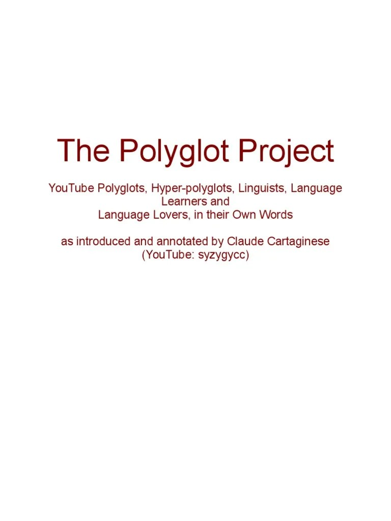 The Polyglot Project Multilingualism Arabic