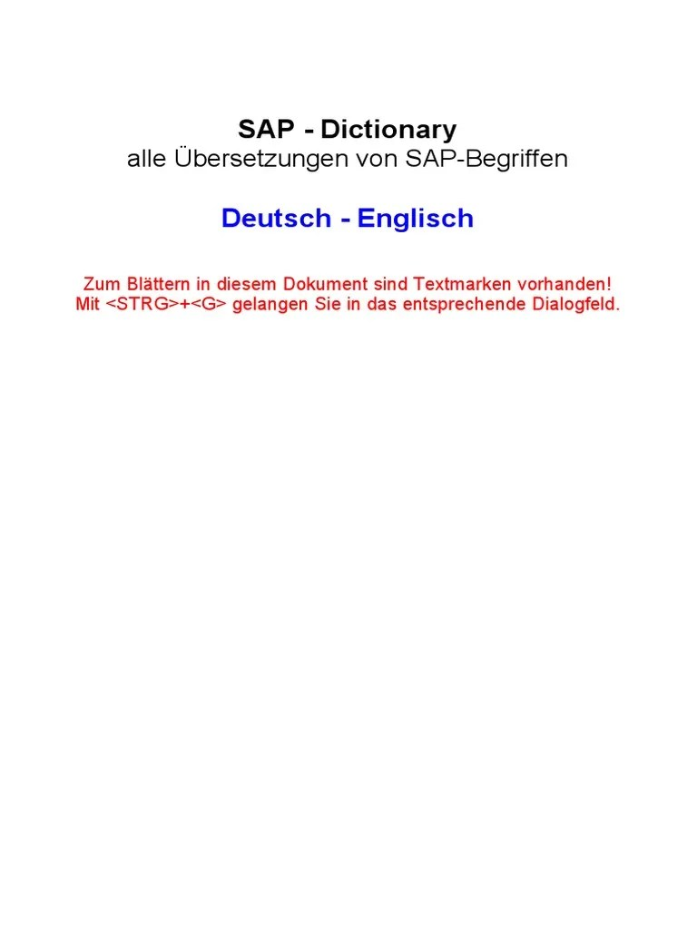 Cash Pool Teilnehmer Sap Dictionary German English