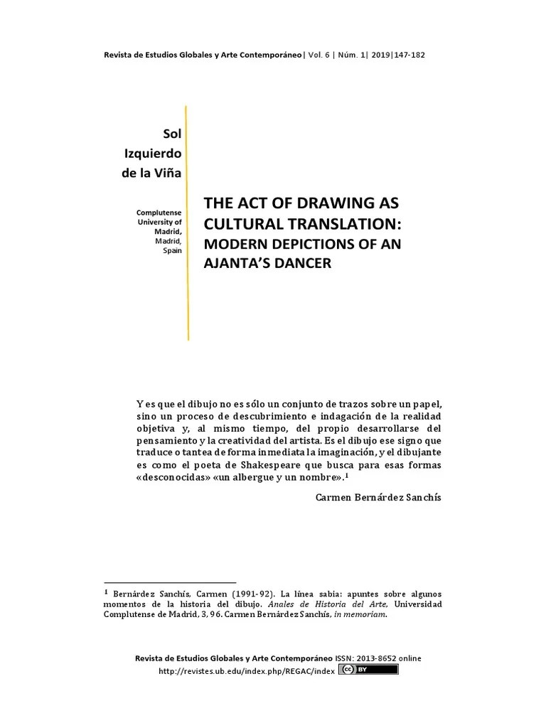 The Act Of Drawing As Cultural Translation Modern Depictions Of An Ajanta S Dancer Translations Paintings
