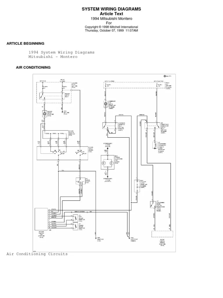 pajero electrical wiring diagram