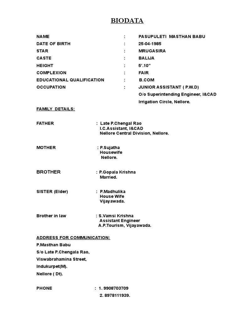 biodata format for marriage word document resume builder biodata format for marriage word document create marriage matrimonial biodata resume fotos biodata format for
