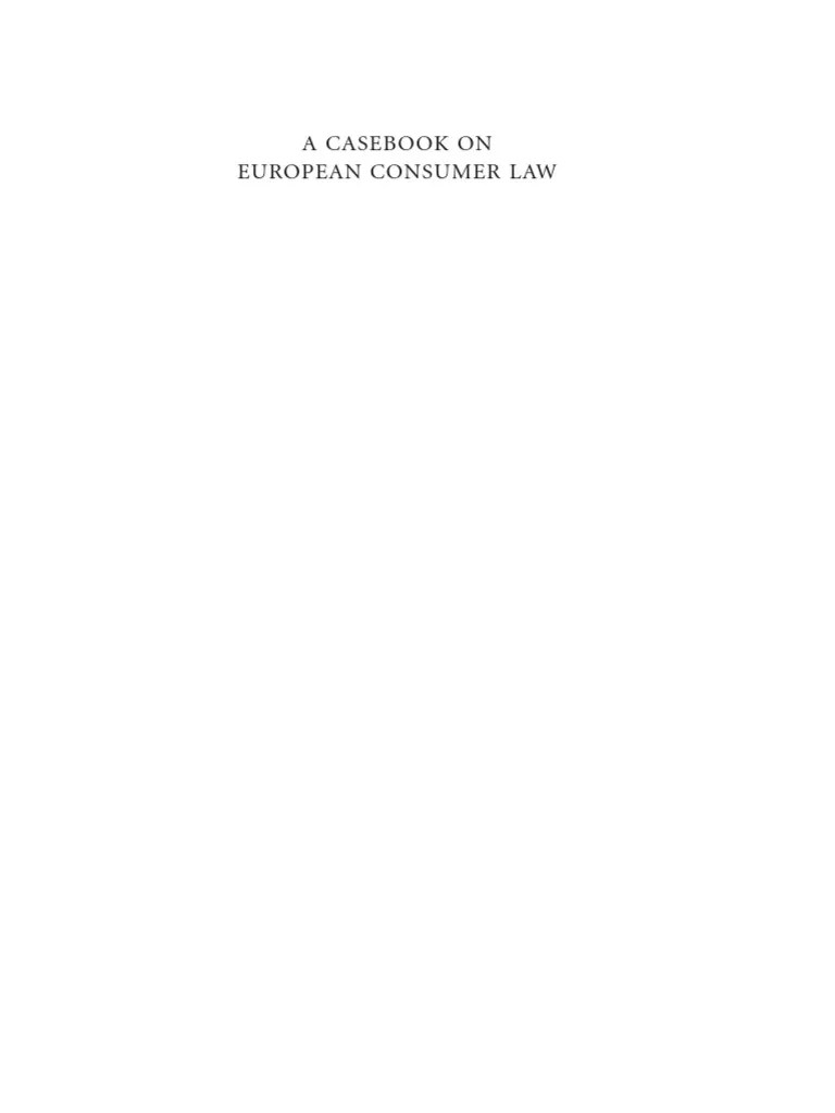 Teppichmuster Orient A Casebook On European Consumer Law European Convention On Human