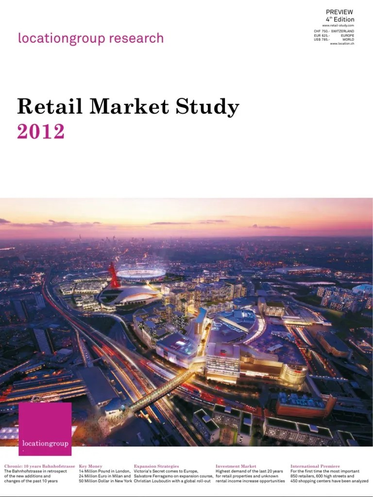 Retail Marketstudy 2012 Location Group Shopping Mall Retail