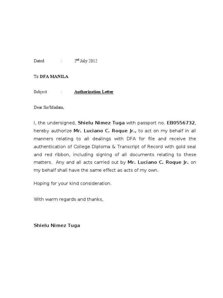 Authorization Letter Red Ribbon How To Make A Resume For Someone