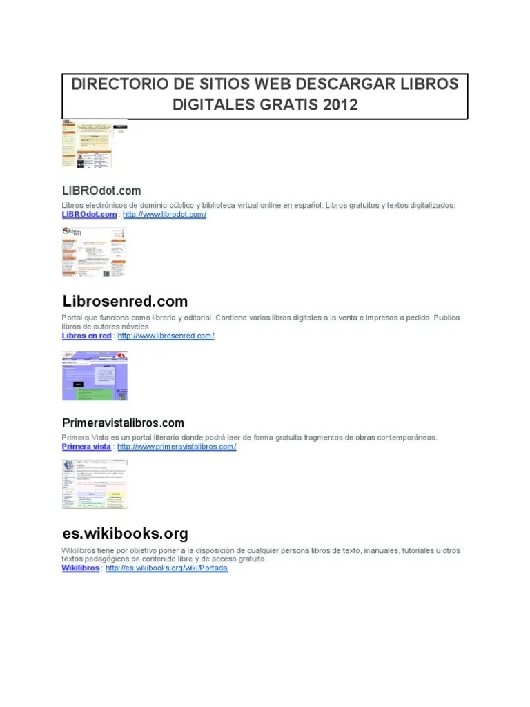 Venta De Libros Digitales Directorio Web Descarga Libros Digitales 2012
