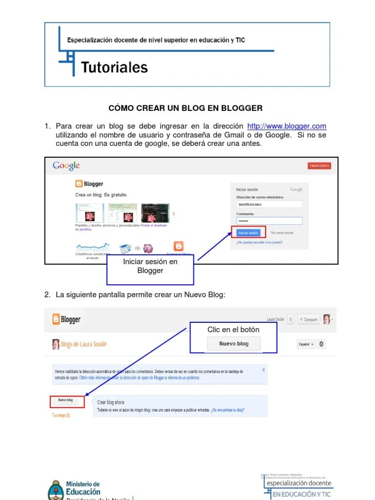 Blogger Como Crear Un Blog Tutorial Cómo Crear Un Blog En Blogger
