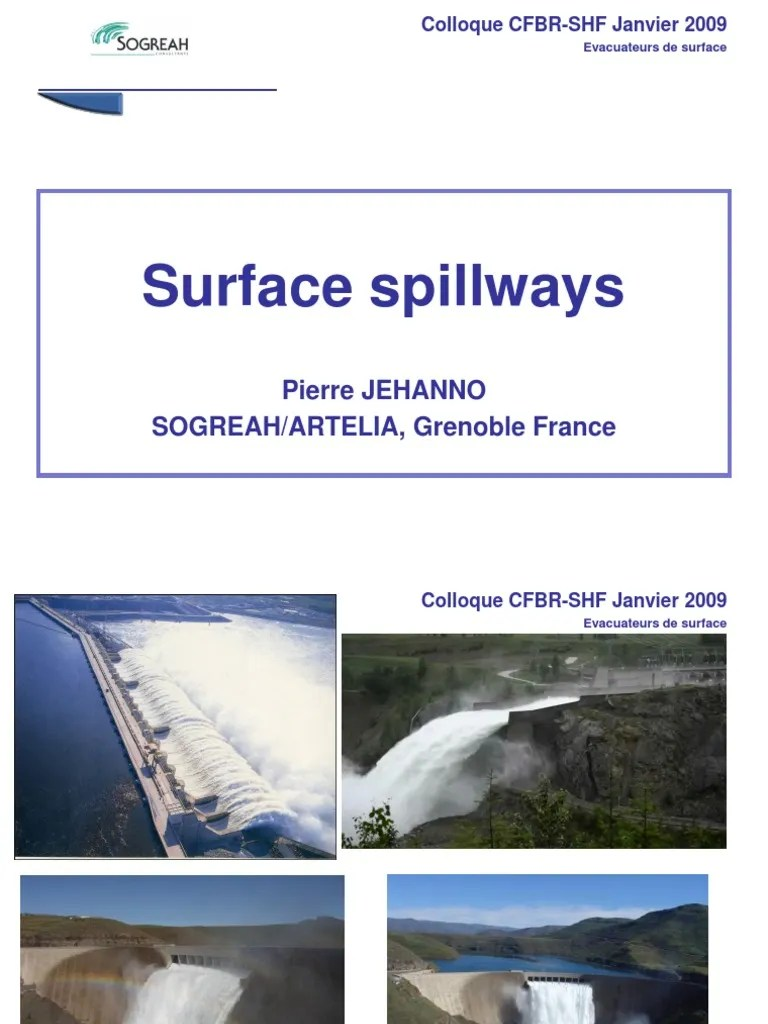 Artelia Outlet Shf Jan09 Pjo Sogreah Evacuateurs 3 English Spillway Water And