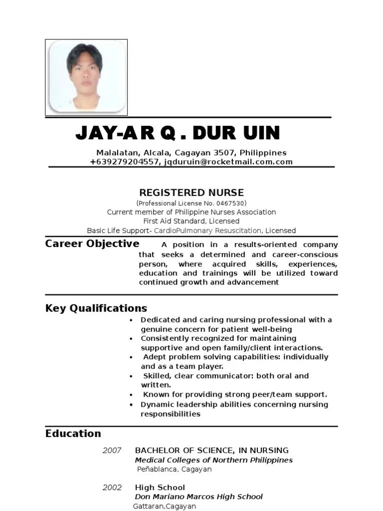 update resume for abroad