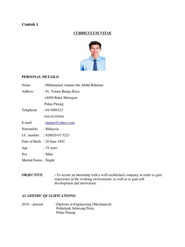 resume contoh doc