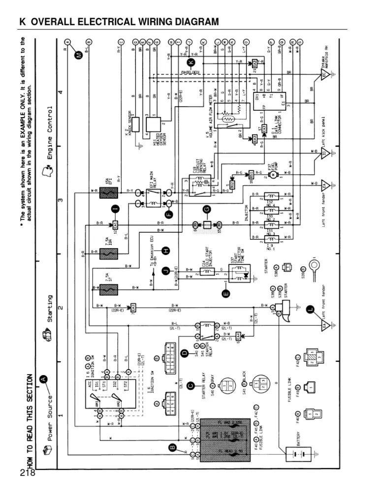 5a fe engine ecu diagram toyota corolla