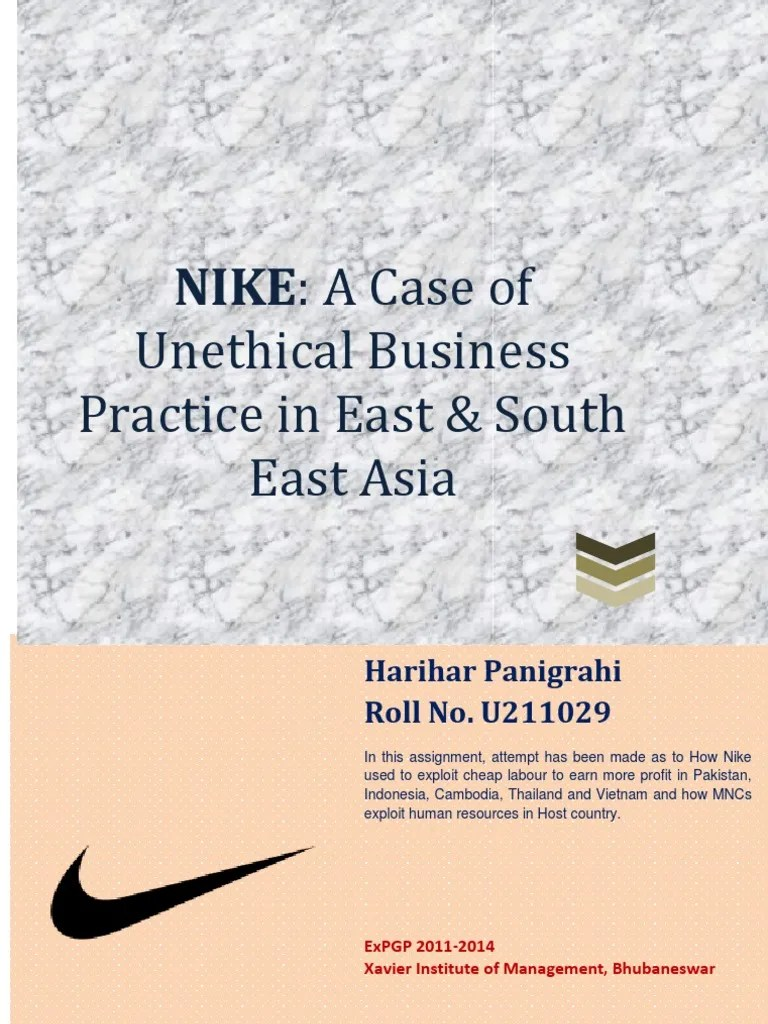 Media Ethics Why How A Case Study Of Pakistan Webs Business Ethics A Case Study On Nike