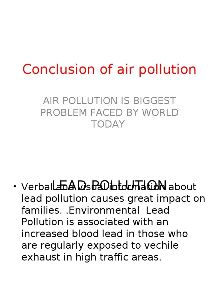 pollution essay conclusion