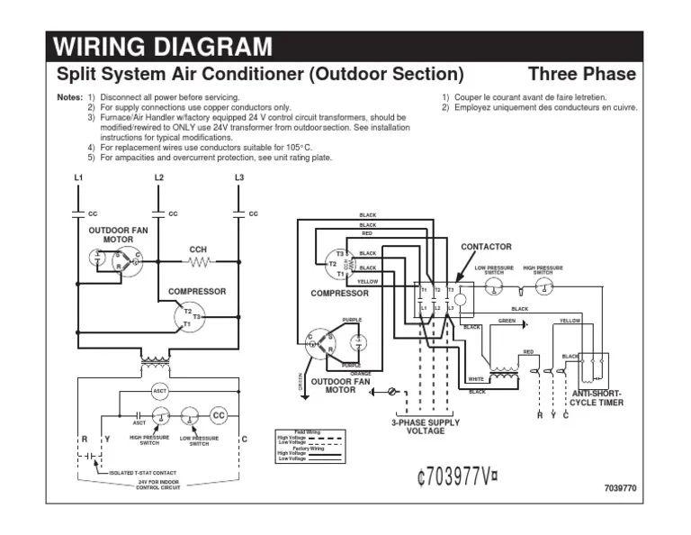 a c split unit wiring diagram