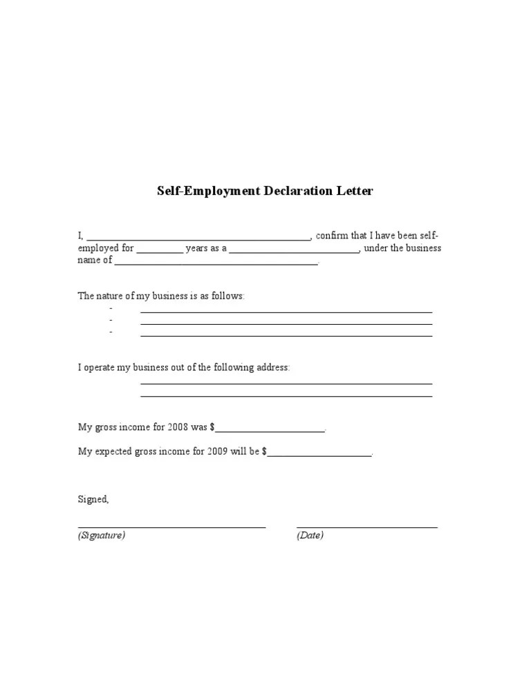 Employment Verification Letter Government Eligibility Uscis Self Declaration