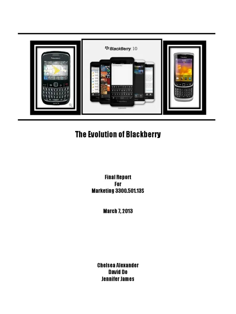 Blackberry Q10 Libre Team Report Black Berry Limited Blackberry