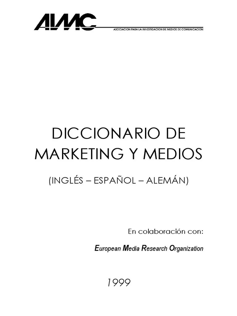 Arte Journal Mittagsausgabe Diccionario De Marketing Y Medios