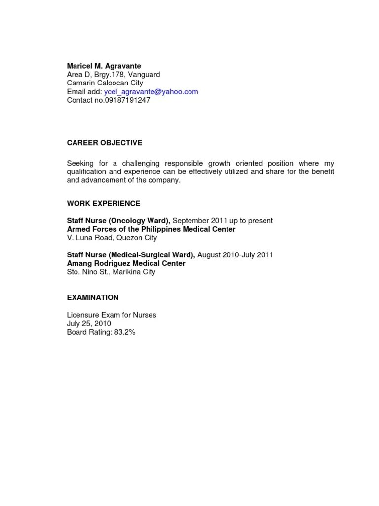 Cover Letter Medical Surgical Nurse] records specialist sample ...