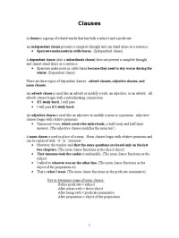 Adjective And Adverb Clauses Worksheets Worksheets For ...
