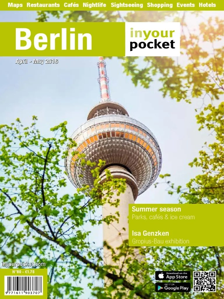 Berlin In Your Pocket Travel Visa Berlin