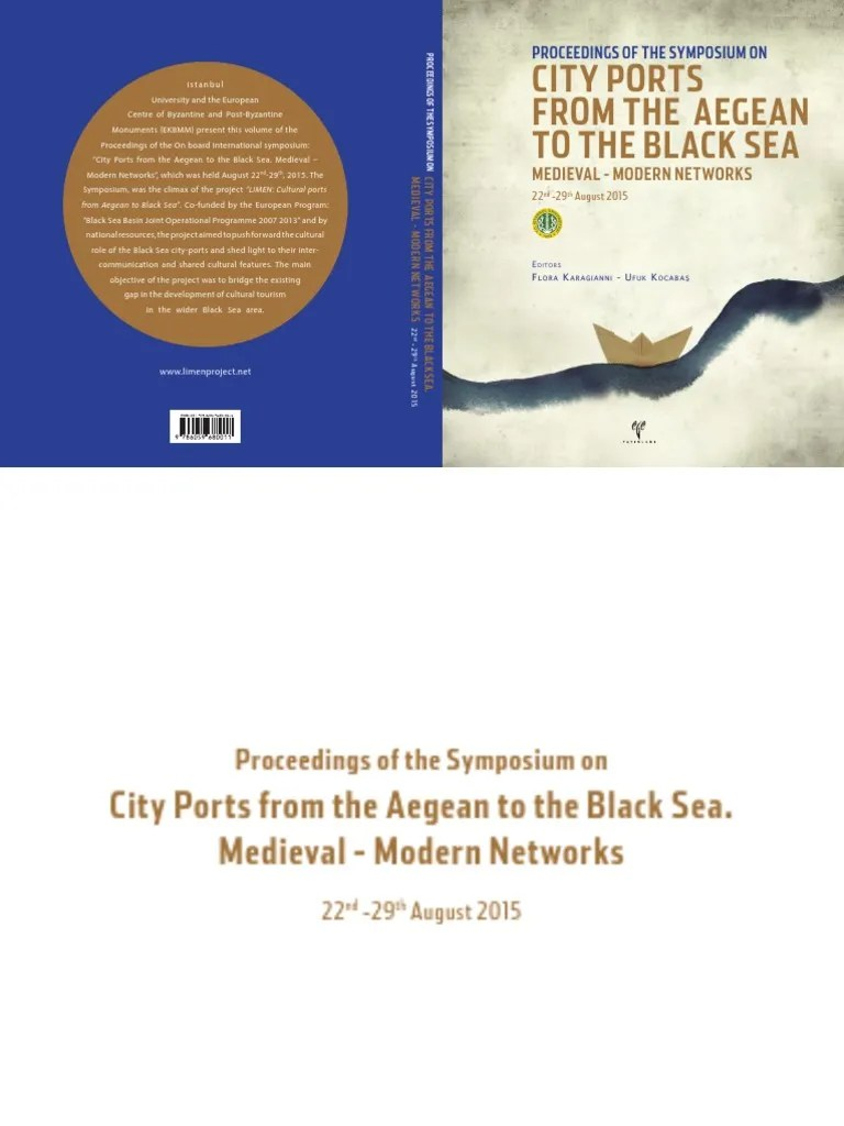 Tike Securite Notice City Ports From The Aegean To The Black Sea Medieval Modern