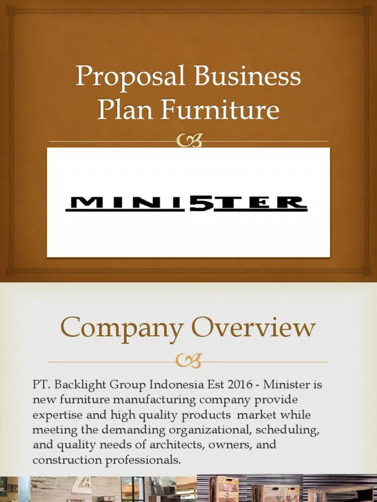 Proposal Business Plan Furniture Furniture Exports
