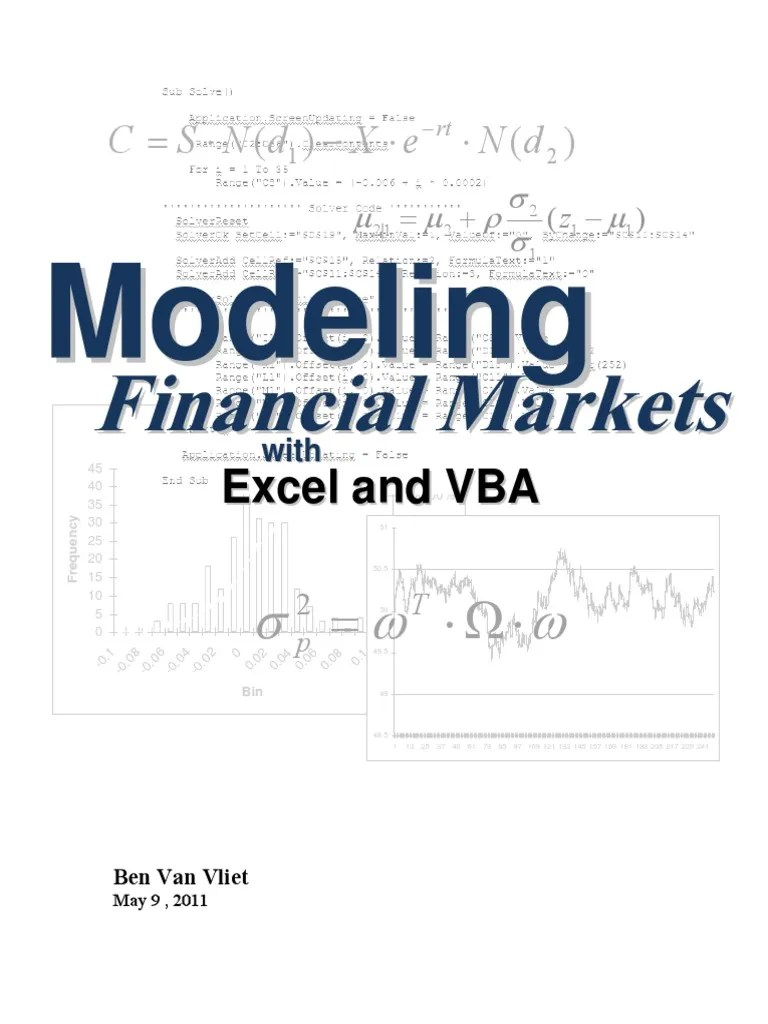 Vba Stock Simulation 93325838 Financial Modeling With Excel And Vba Microsoft