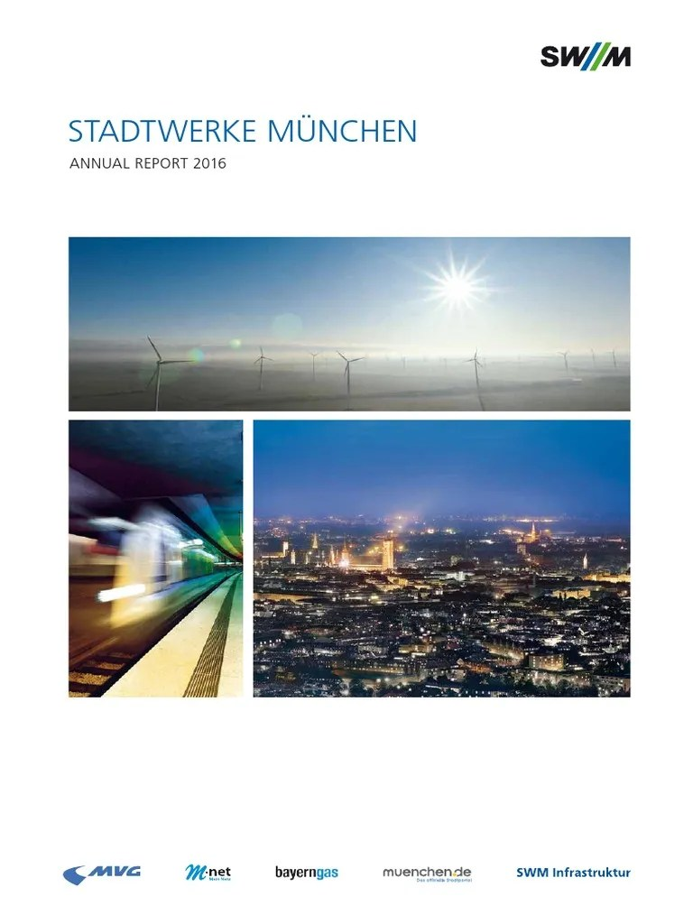 Cash Pool Odeonsplatz Swm Annual Report 2016 Financial Statement Wind Power